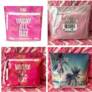 Bundle of 4 NWT Victoria's Secret PINK Beauty Bags